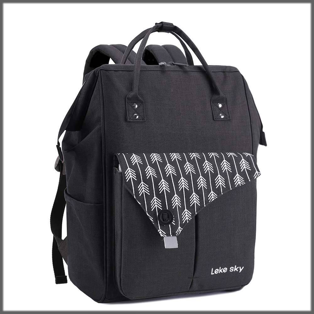 embroidered laptop backpack for ladies