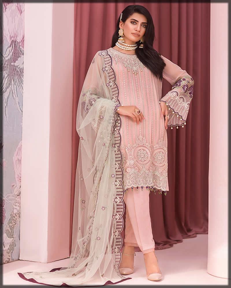 flossie pink chiffon dress