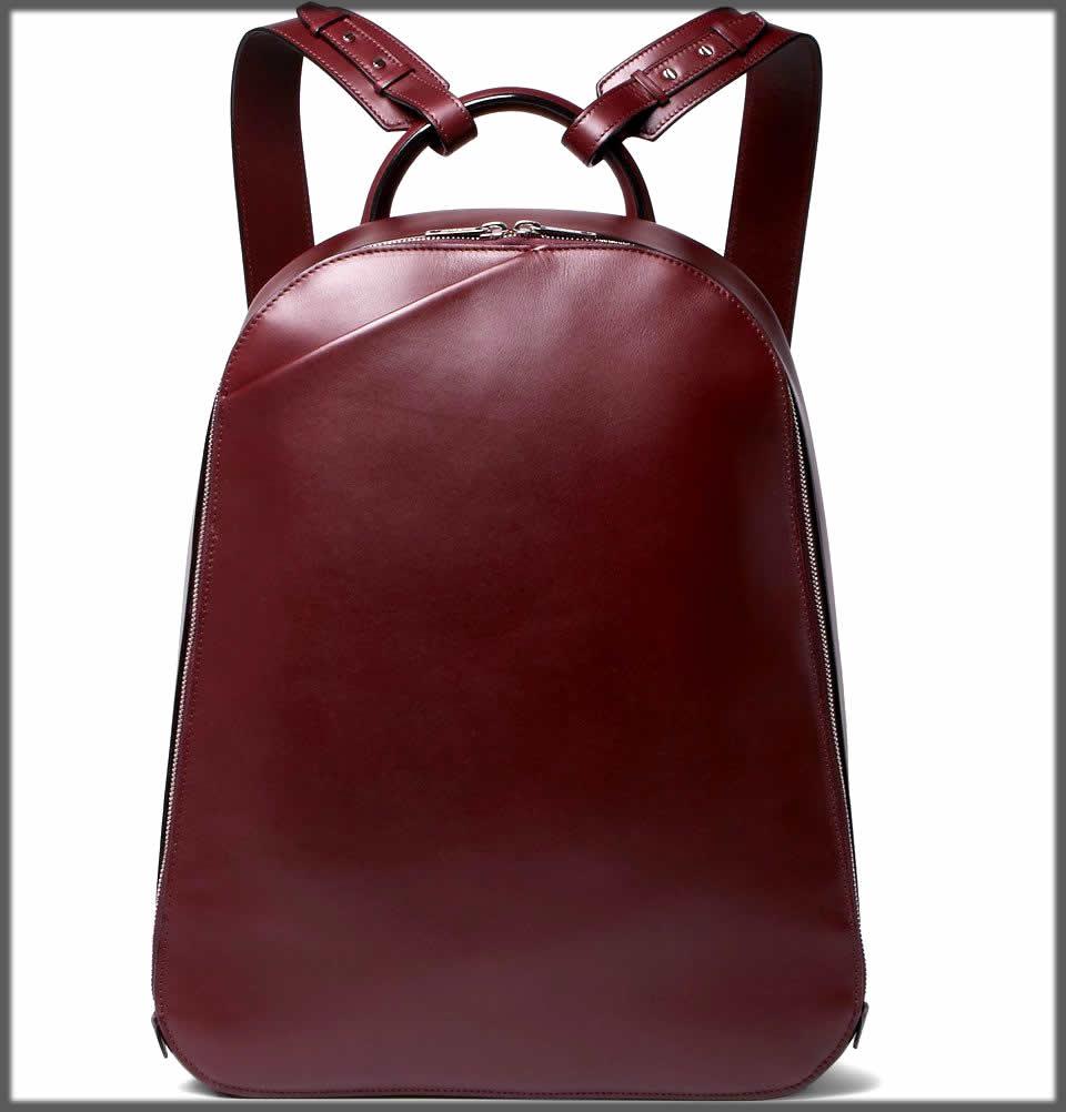 maroon bagpack