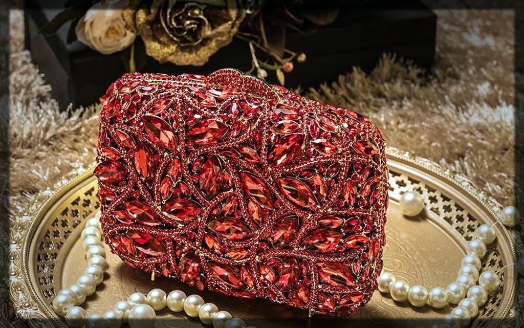 maroon bridal clutch