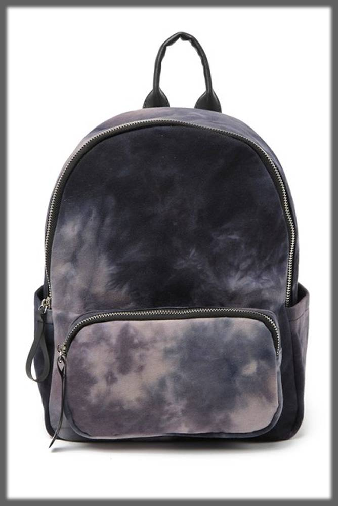 mini fur-like backpack for cosmetics