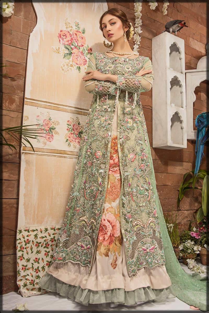 mint bridal gown