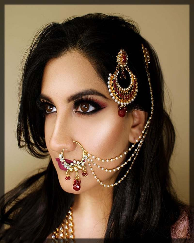 multi chains nose ring