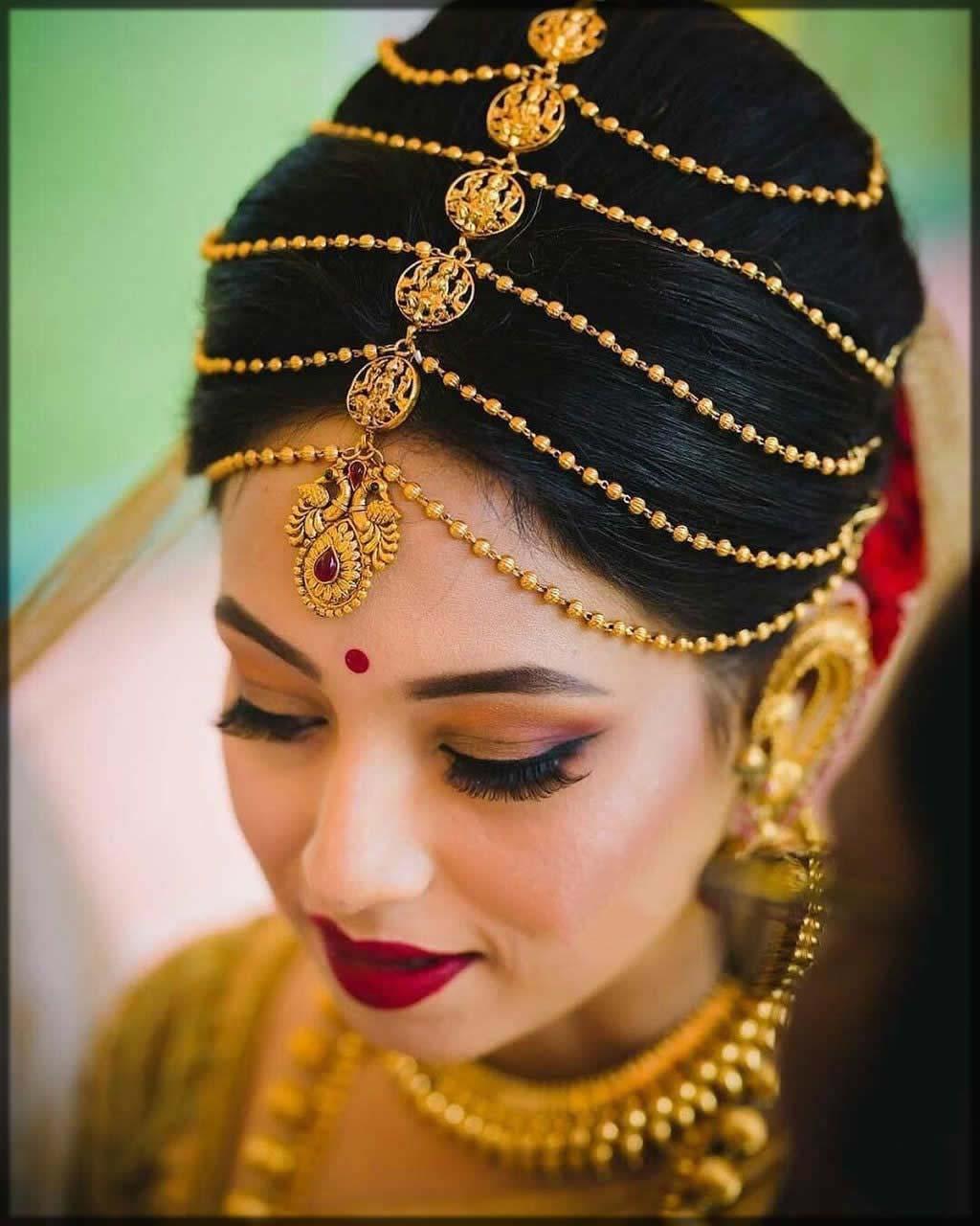 multi layered bridal matha patti