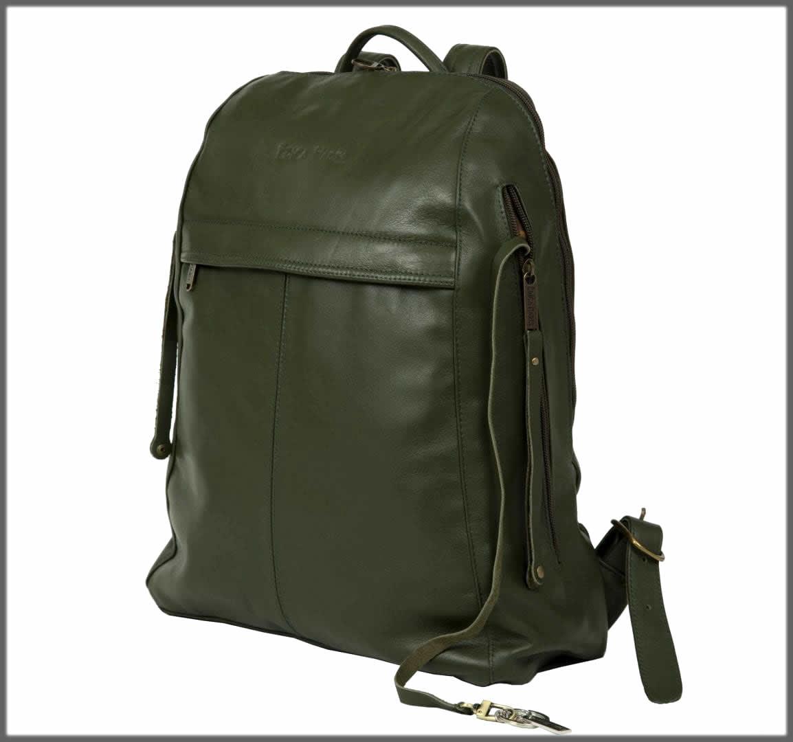 olive green leather bag