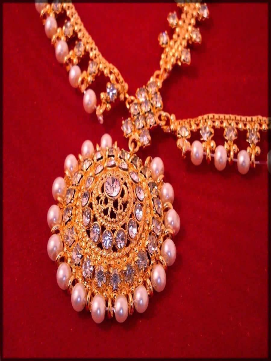 pearls and beads matha patti