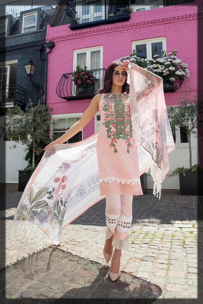 pink dress by sobia nazir