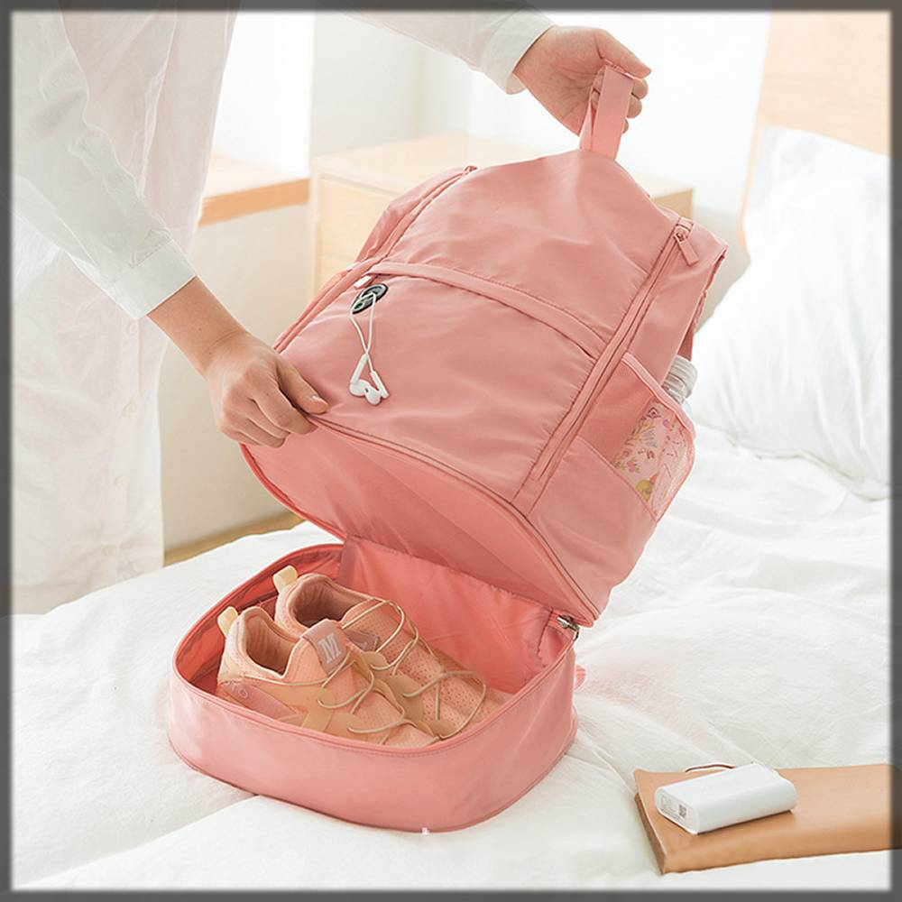 pink swimming backpack for women
