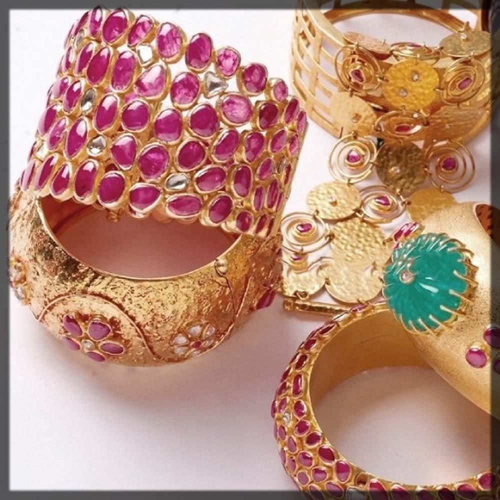 ruby rose bridal bangles
