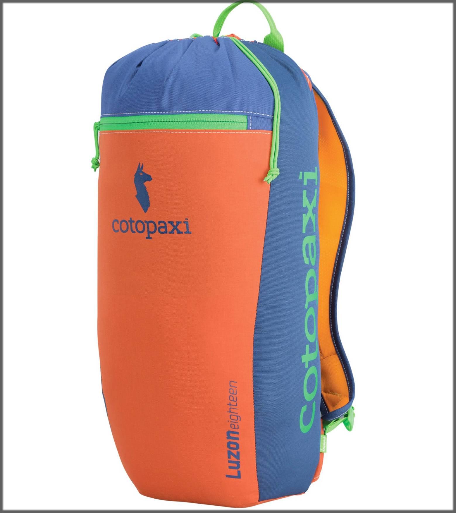 spacious hiking bag in orange