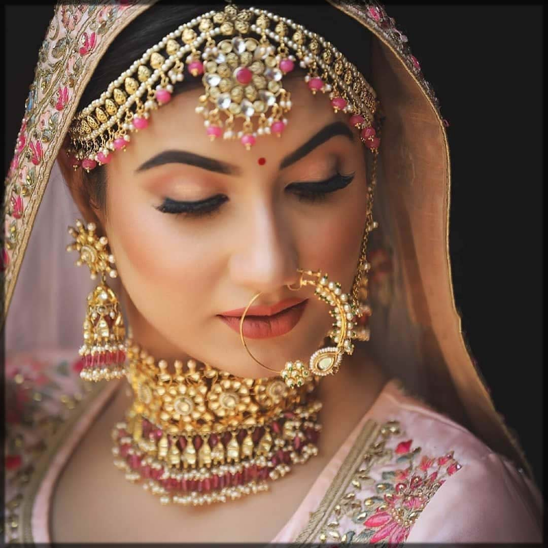 stylish nose ring for bride