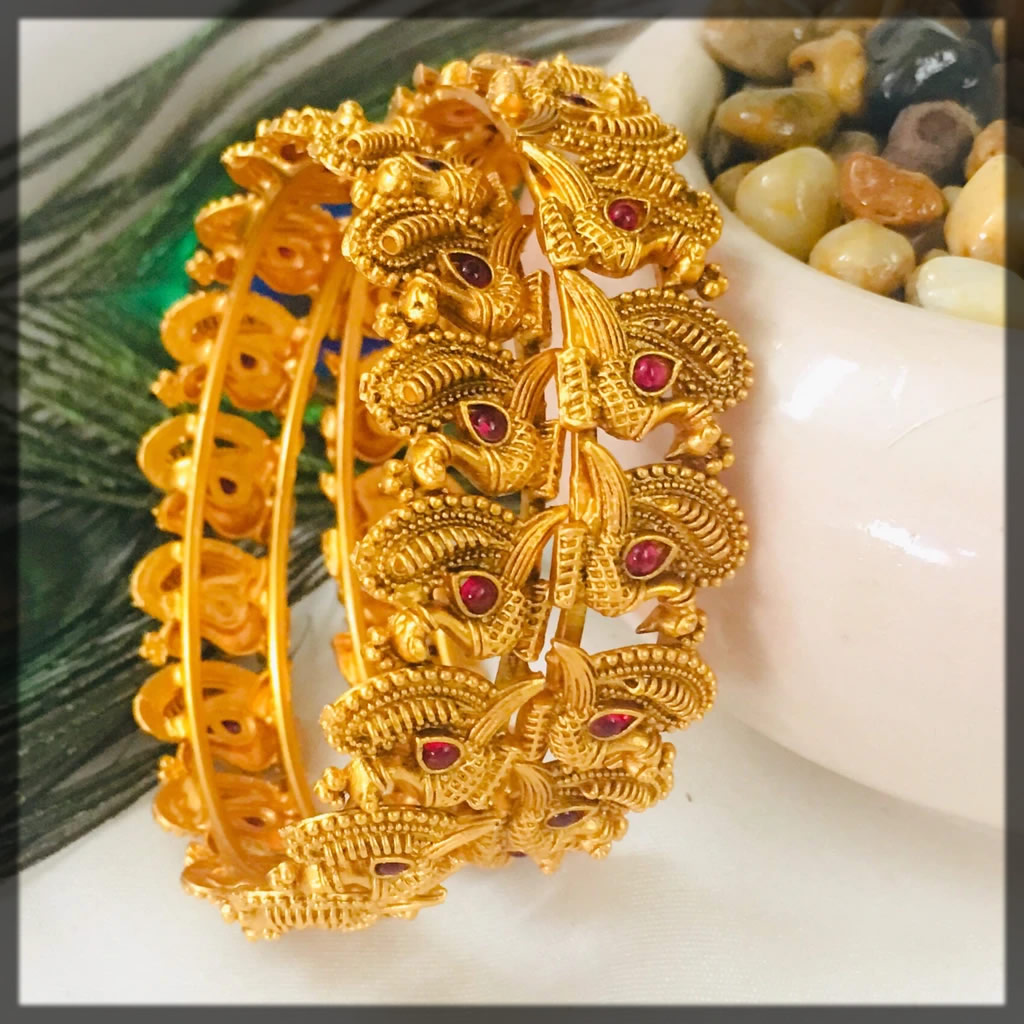 stylish peacock designer bangles