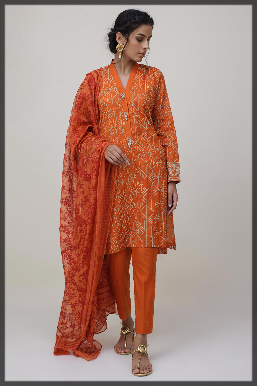 vibrant orange dress