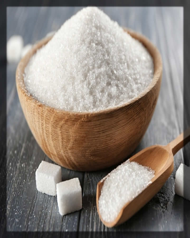 white sugar for dark lips