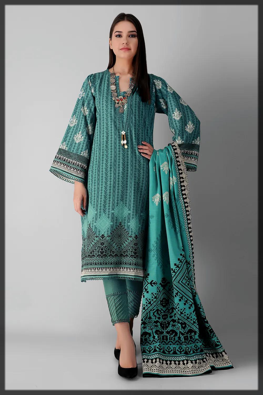 3PC khaddar suit for women
