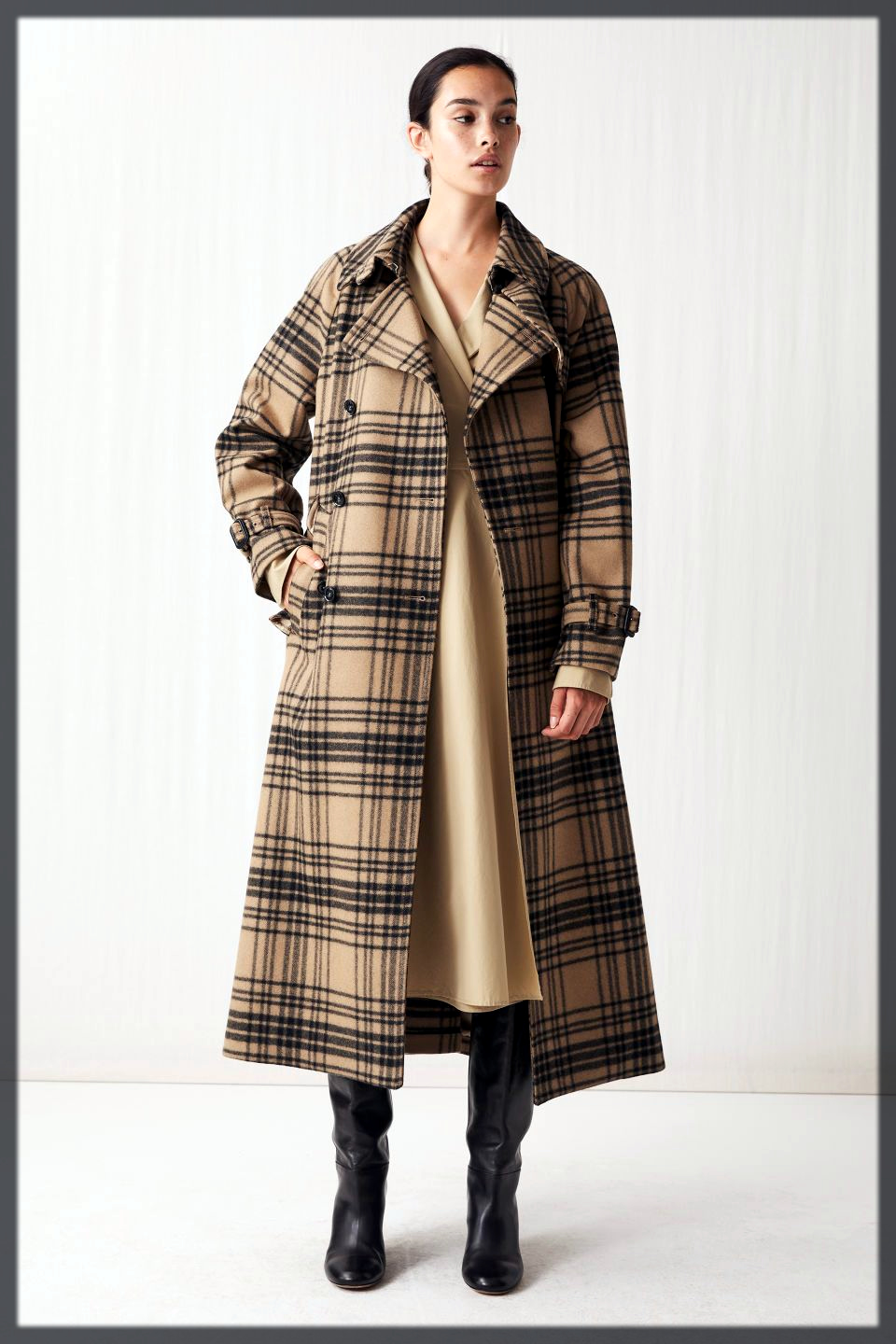 Best checked Winter Trench Coats For Women