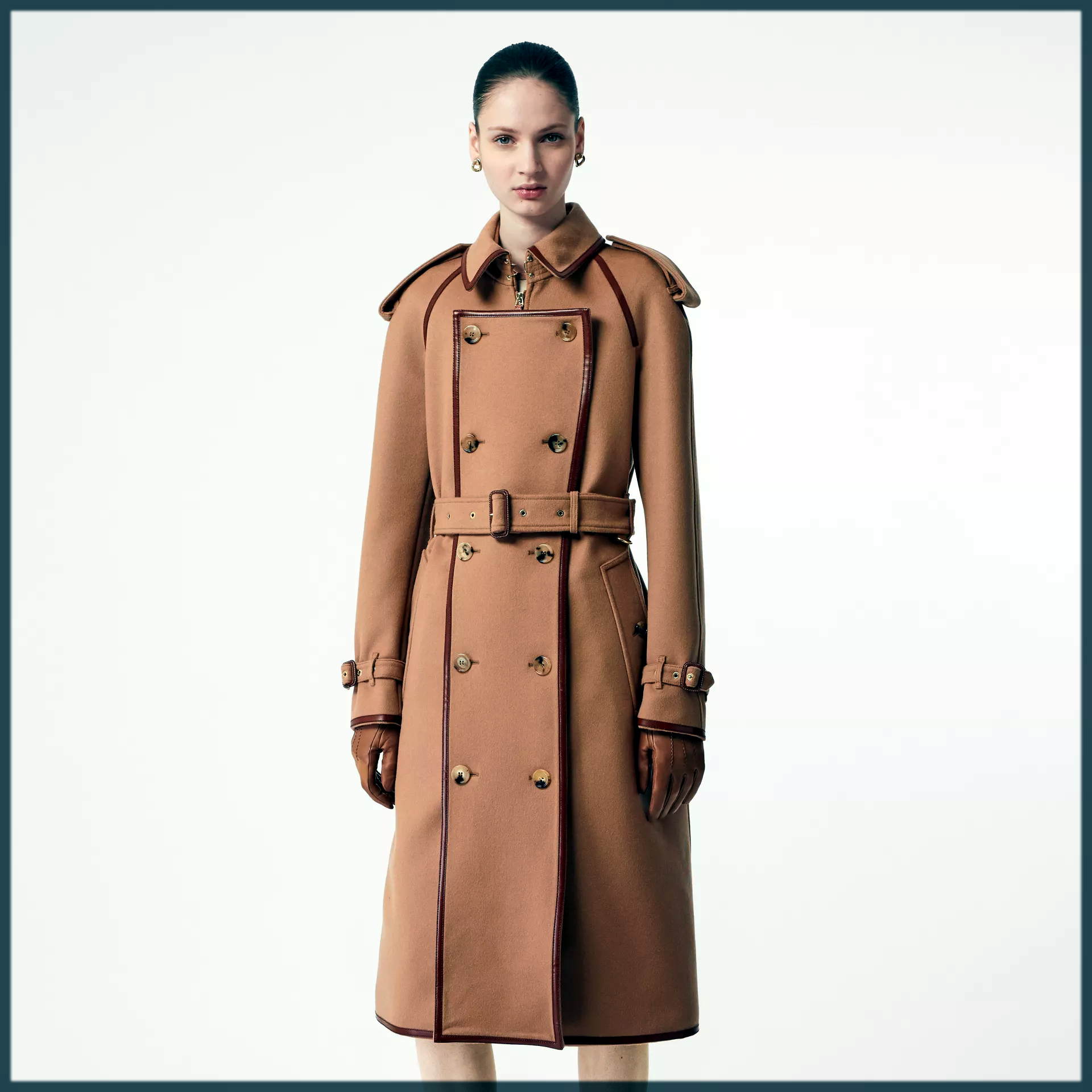 Button Panel Winter Trench Coats For Women