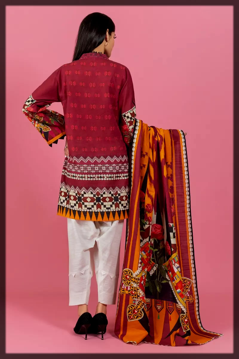Digital Printed Khaddar Shirt and Dupatta