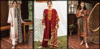 Orient Textiles Winter Collection 2021 - Printed and Embroidered Dresses