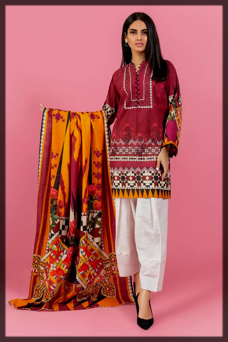 Stitched Gul Ahmed Winter Collection