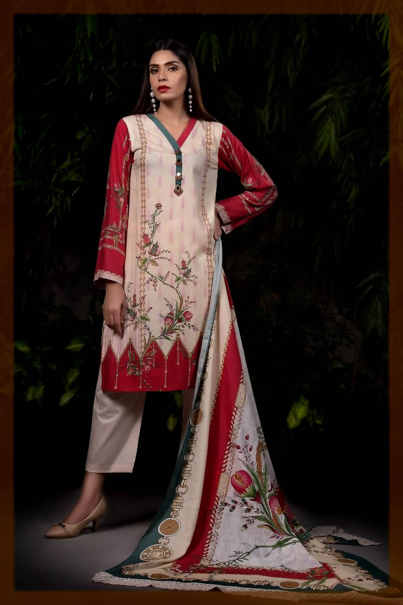 Striking Unstitched 2PC Suit for Women
