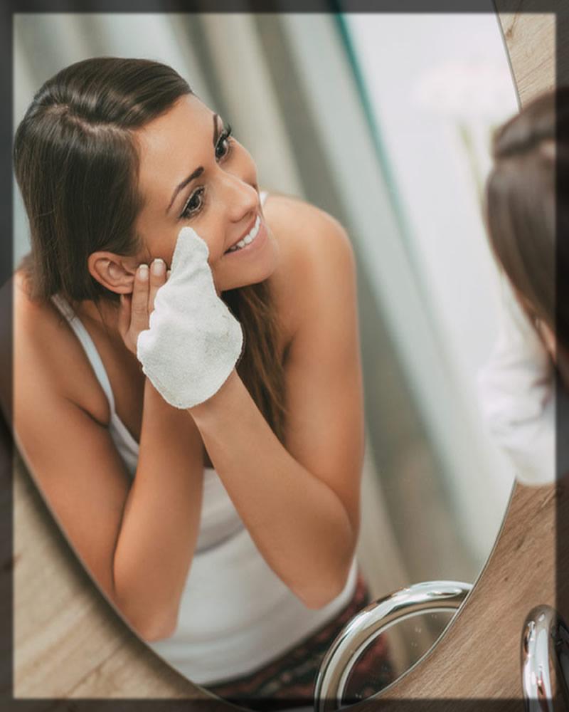 applying makep remover