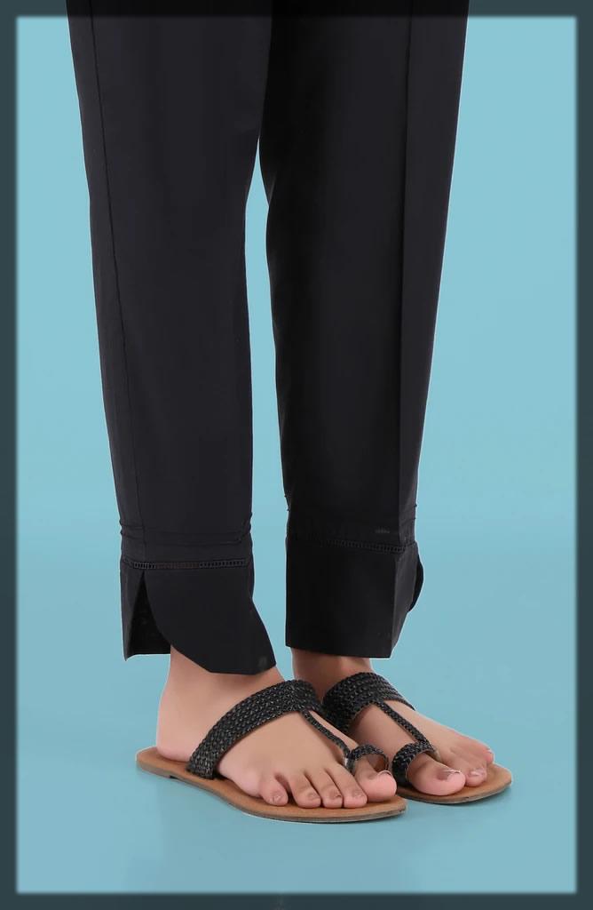 black straight pant