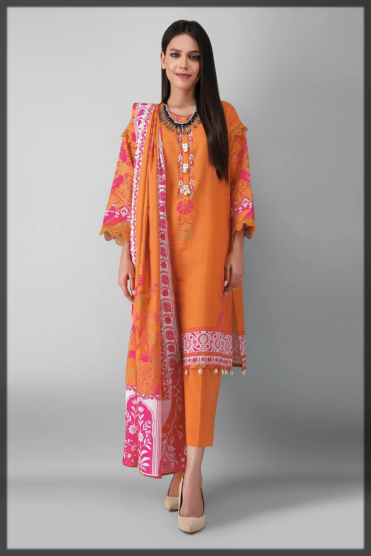 bright hues khaddar suit