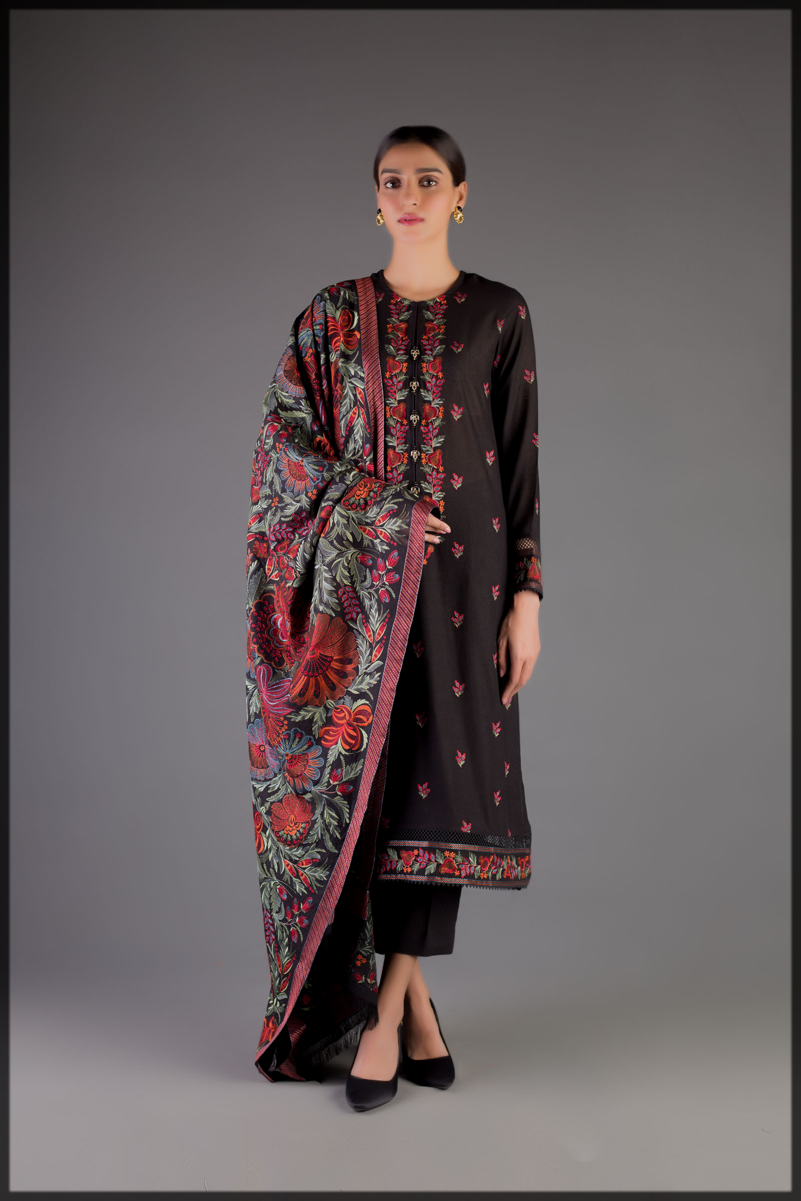 classy Winter Shawls for Women by Bareeze