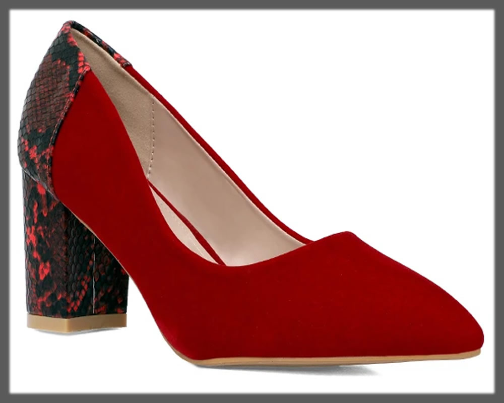 gorgeous red court shoes