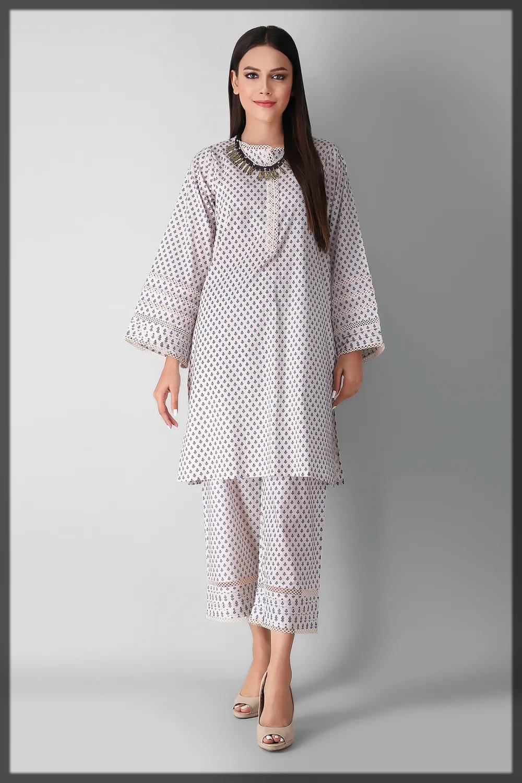 khaadi winter cambric dress