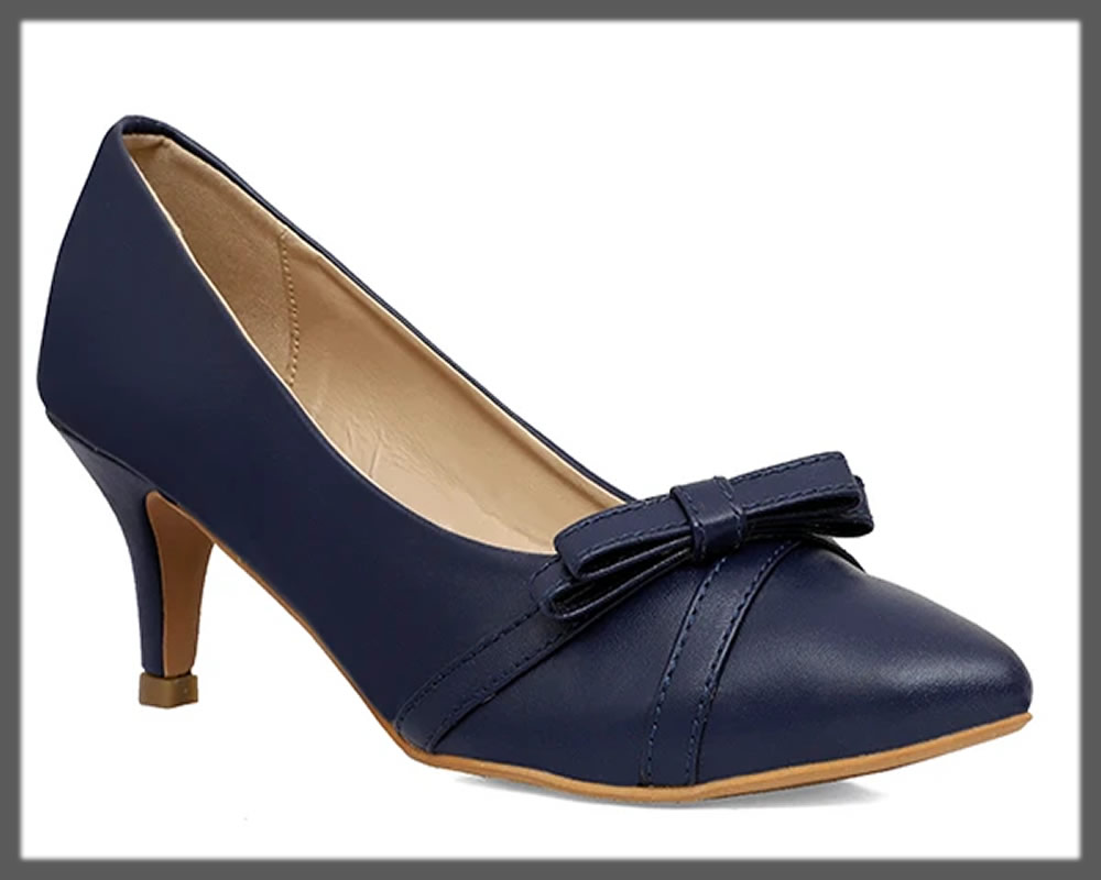 navy blue court shoes