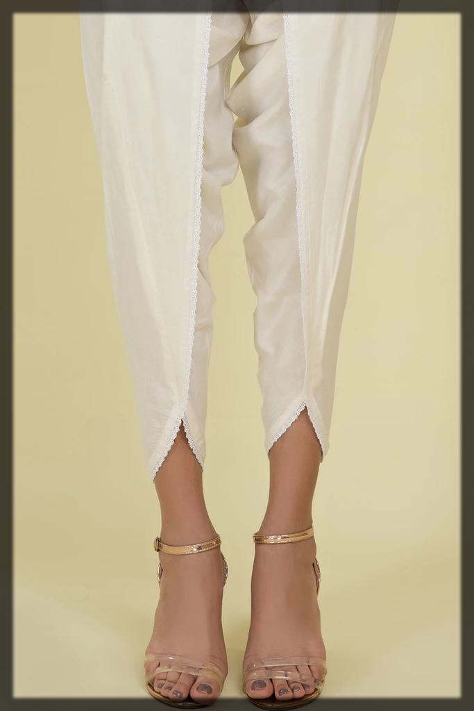 off white winter trouser