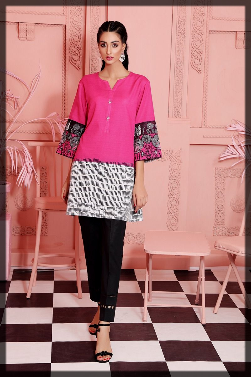 pink and black winter collection