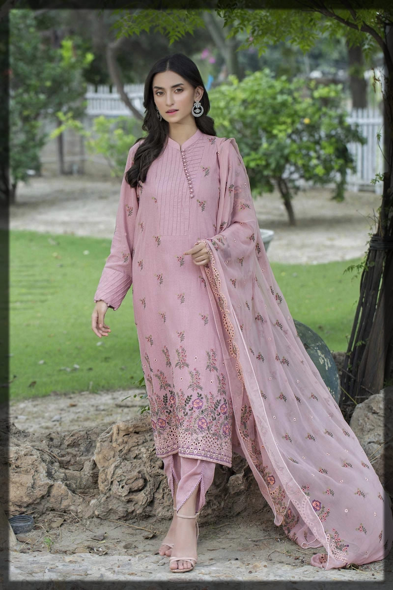 pretty tea pink embroidered dress