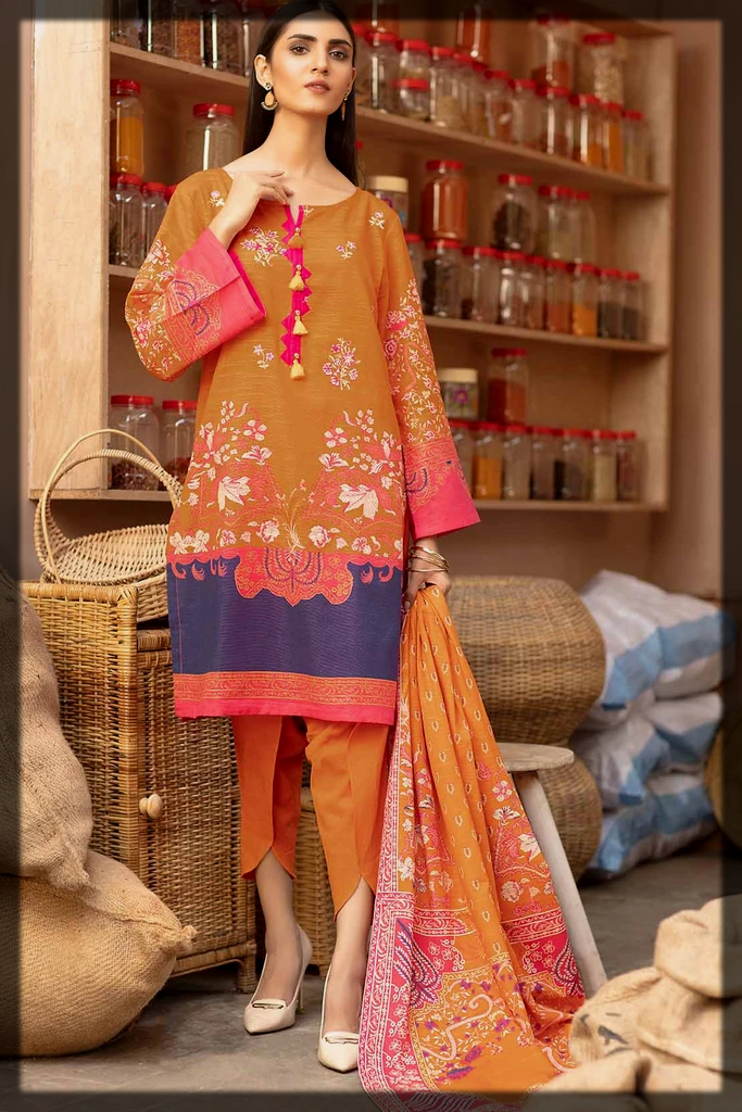 printed warda winter outfit