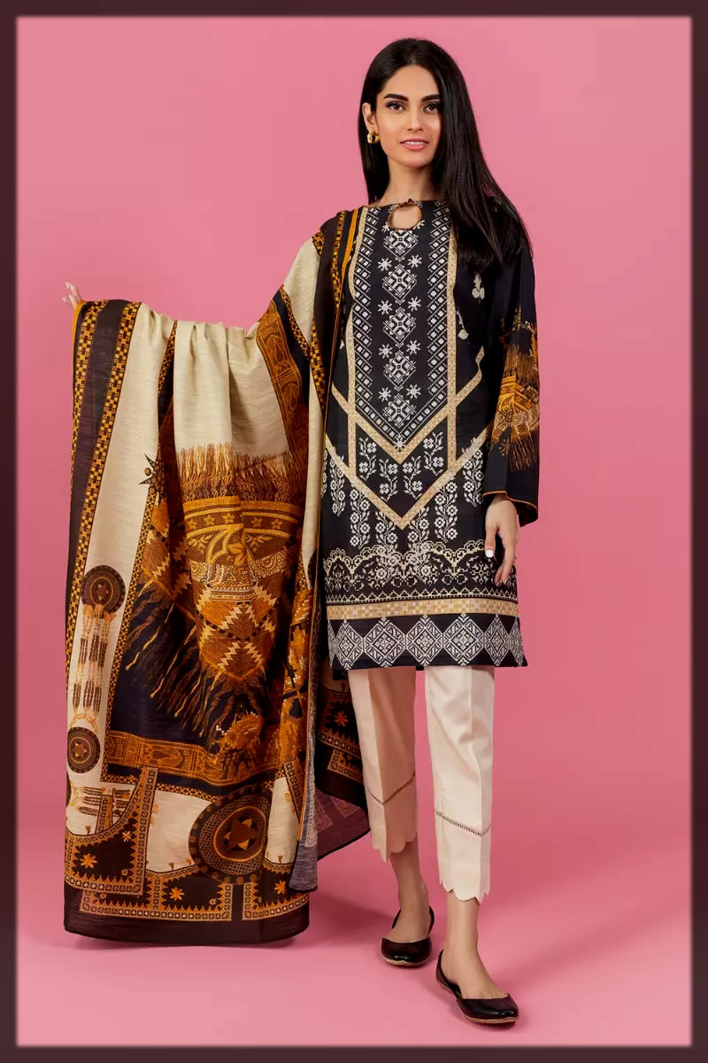 stunning Stitched Gul Ahmed Winter Collection