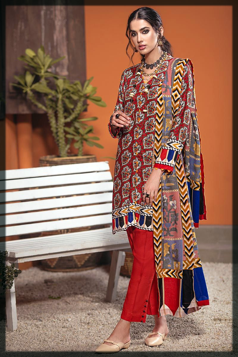 Attractive Gul Ahmed Winter Dresses for Women