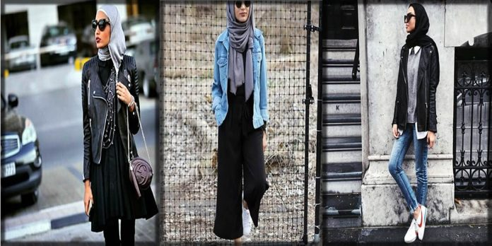 Latest hijab styles with jackets