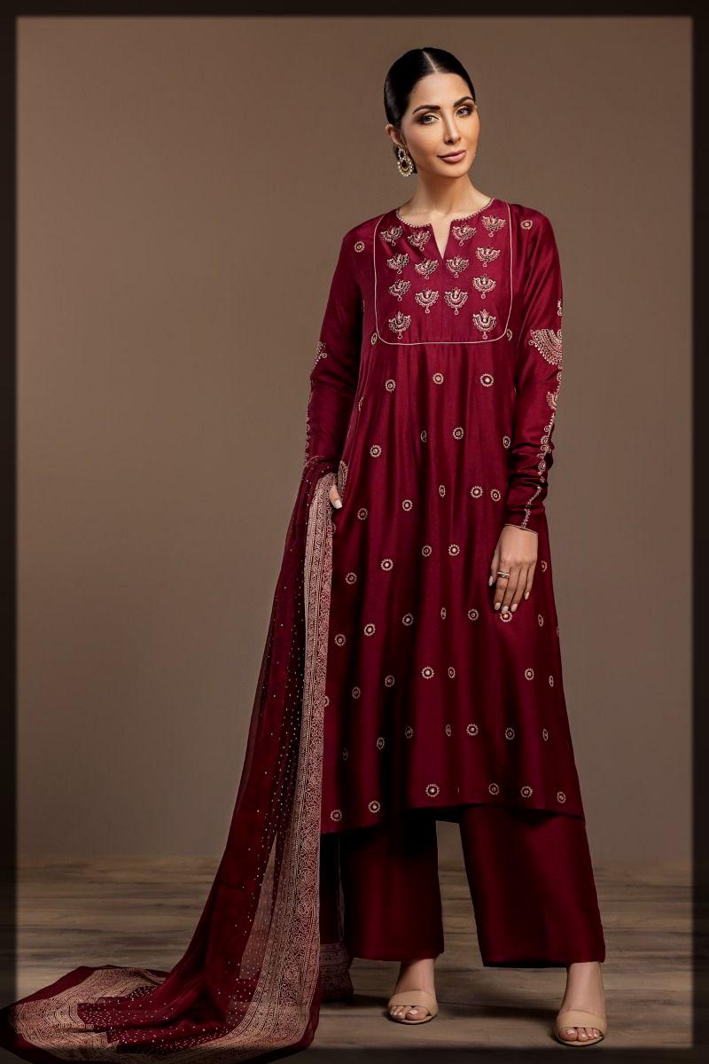 Nishat Winter Dresses for Pakistani Women