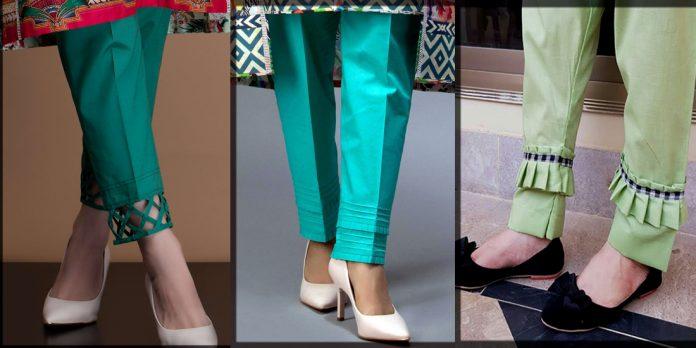 Stylish Trouser Poncha Designs for ladies