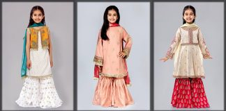 Sharara Dresses for Baby Girls 2021 - Little Kids Sharara Suit Designs