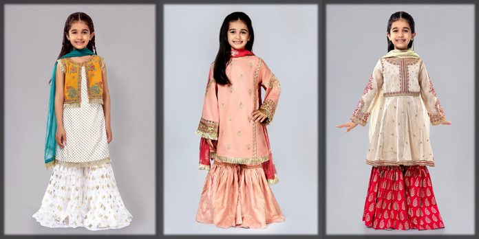 Stylish sharara dress for baby girls