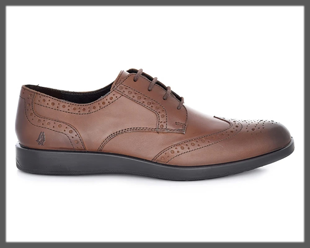 chocolate brown lace-up shoes