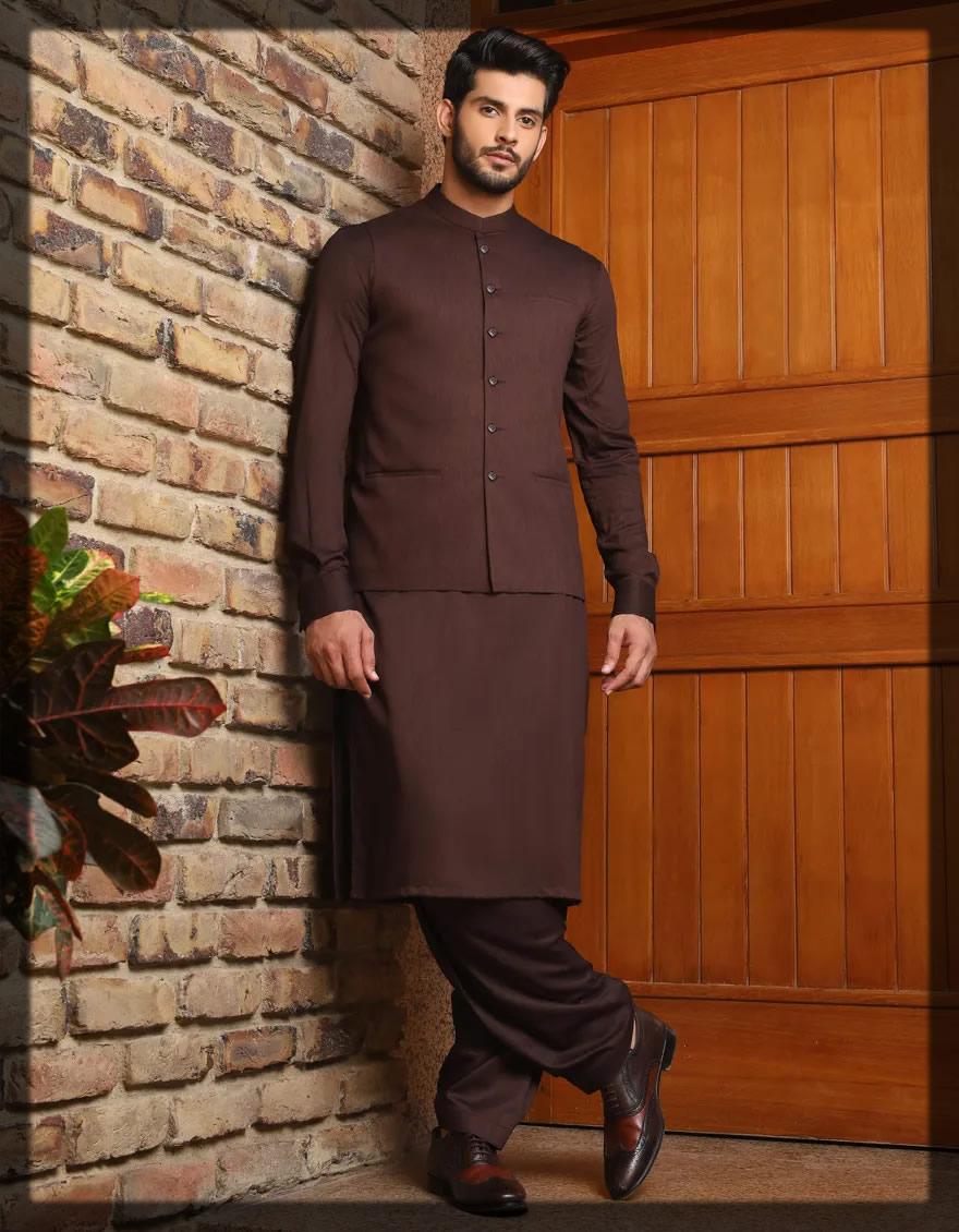 chocolate brown shalwar kameez