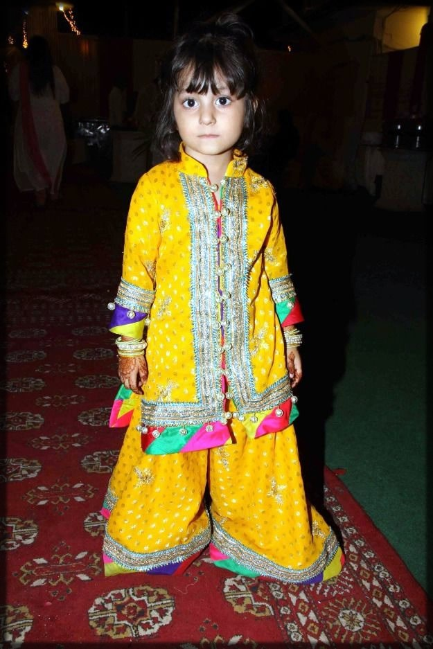 cute yellow sharara dress