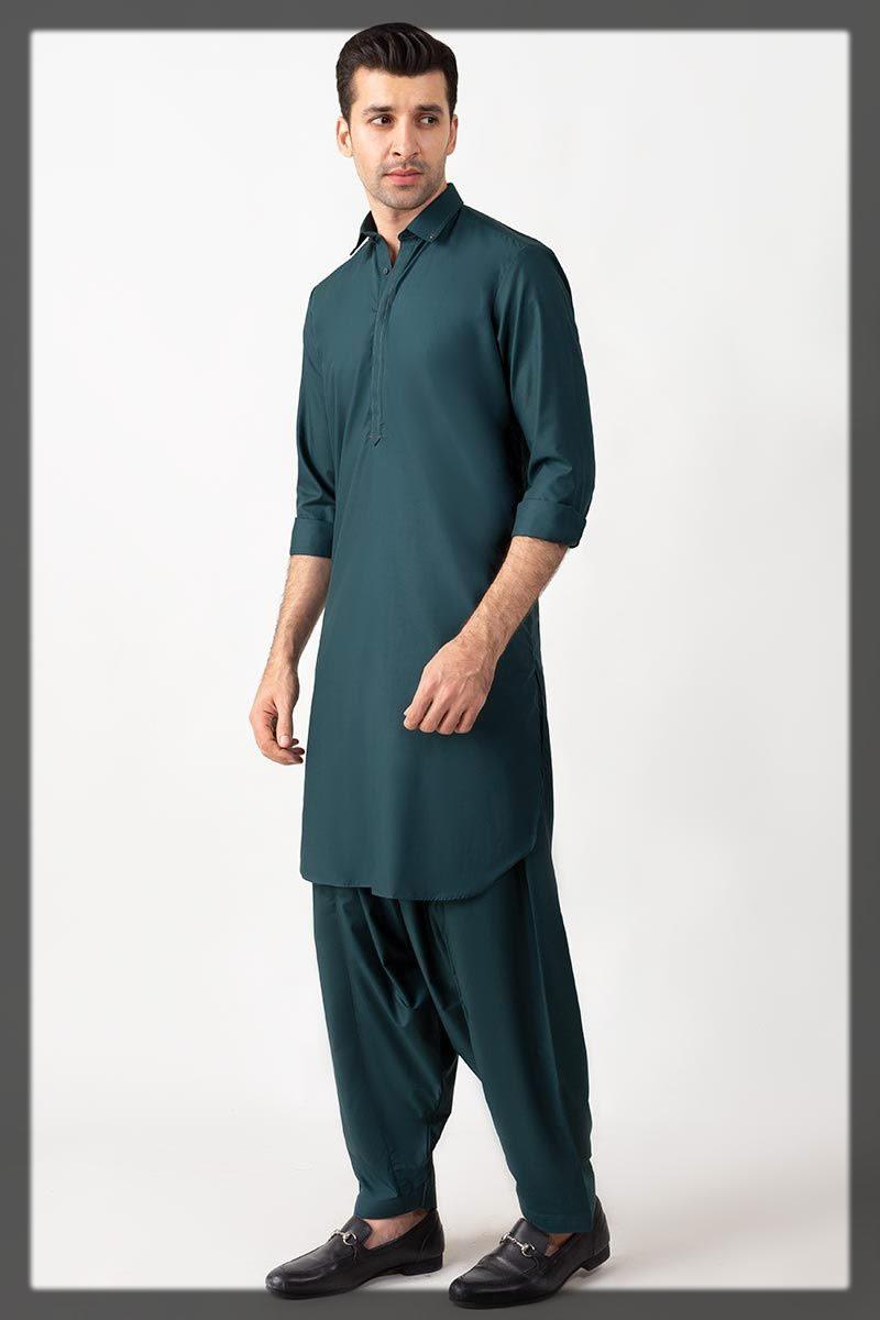 dark bottle green shalwar kameez