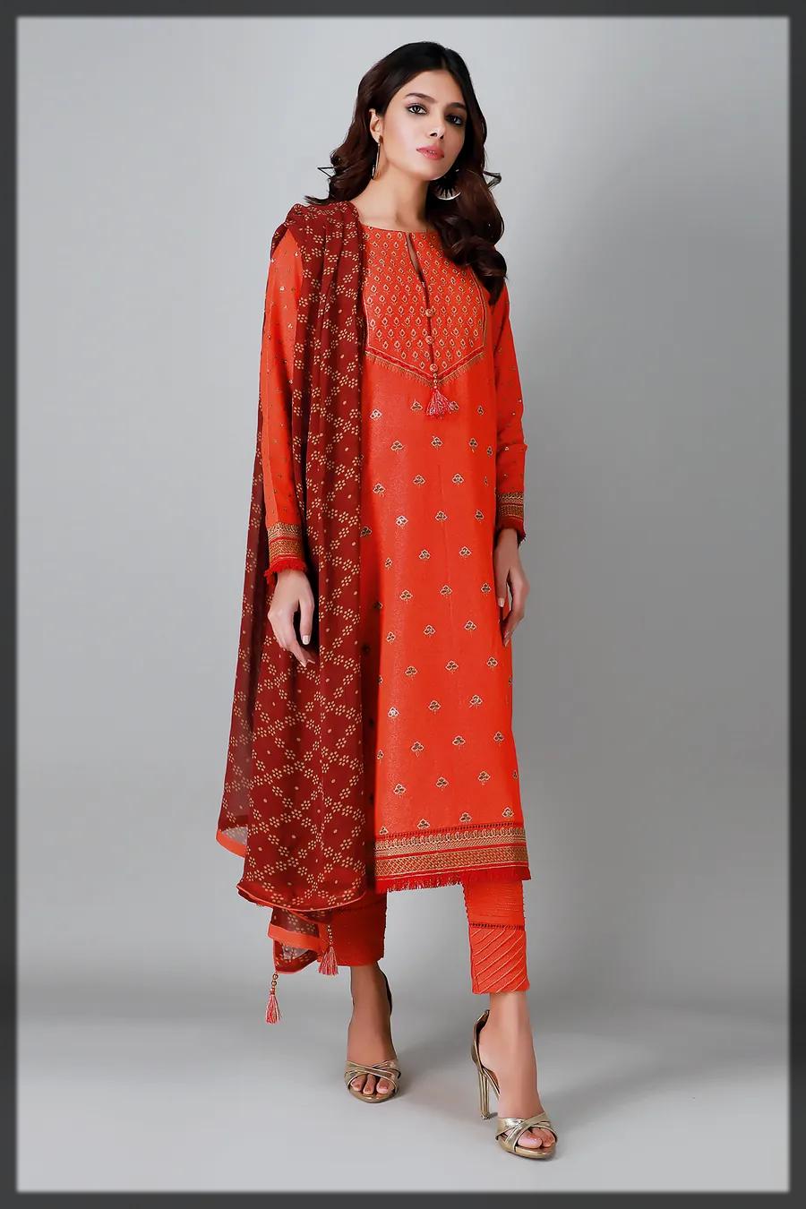 dazzling khaadi winter dress