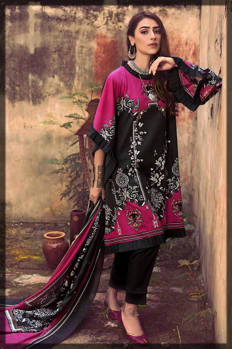 dazzling printed winter suit