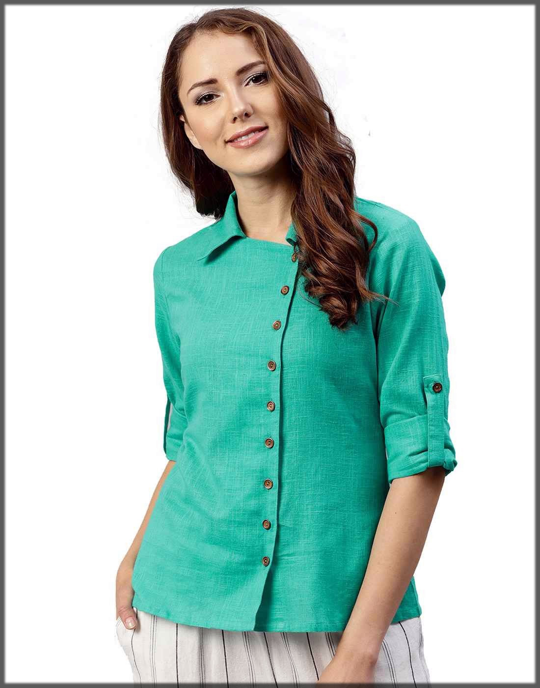 green stylish sleeves